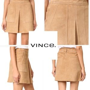 NWT Vince Goat Leather Skirt
